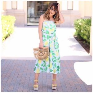 Anthropologie lemon grove strapless jumpsuit